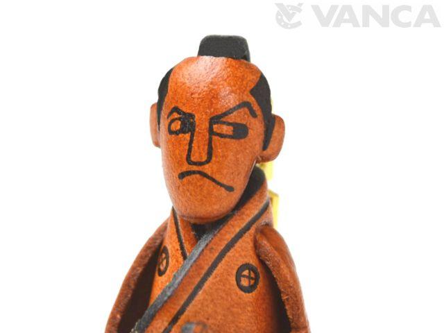 VANCA 本革レザーキーホルダー 侍
