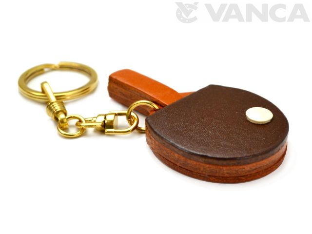 卓球ラケット VANCA本革 レザーキーホルダー