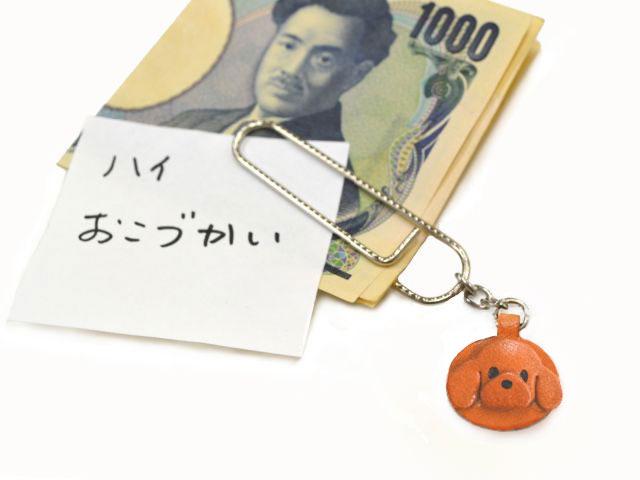 トイプードル VANCA 本革ペーパークリップ